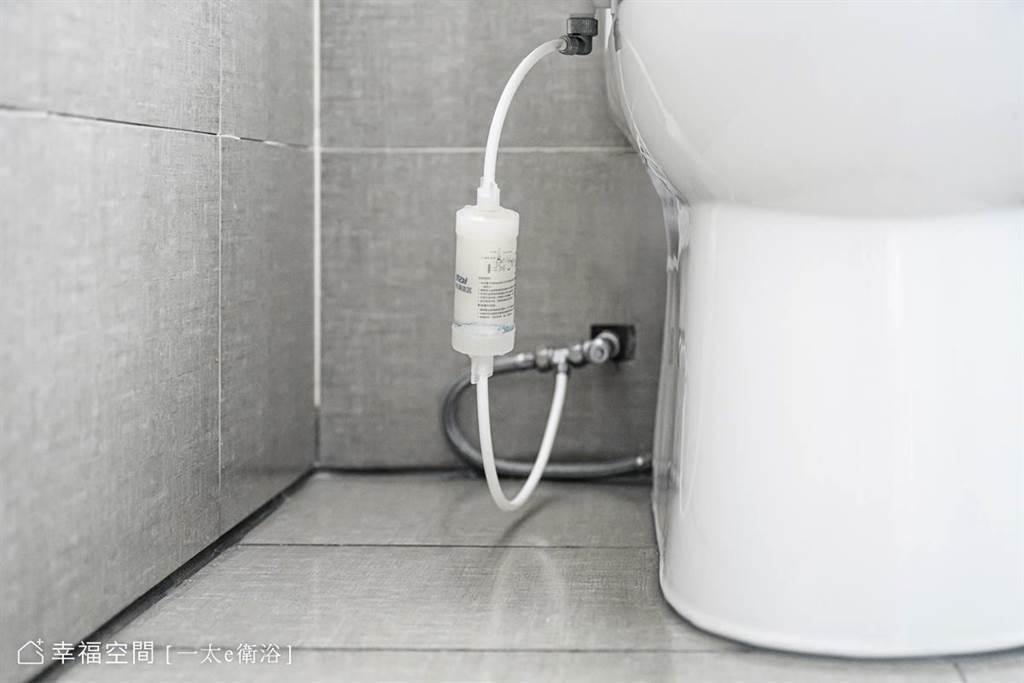 若擔心水垢問題,可另加裝淨水濾心,過濾掉水中雜質。(攝影/柯善文)