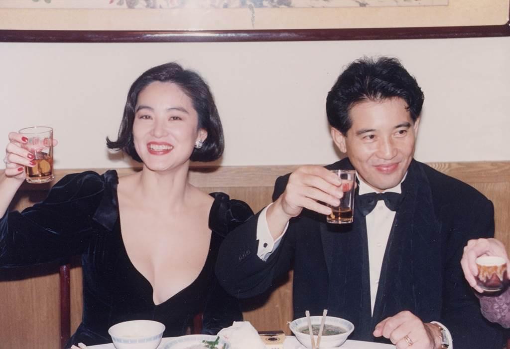 林青霞昔穿低胸禮服。(圖/中時資料照片)