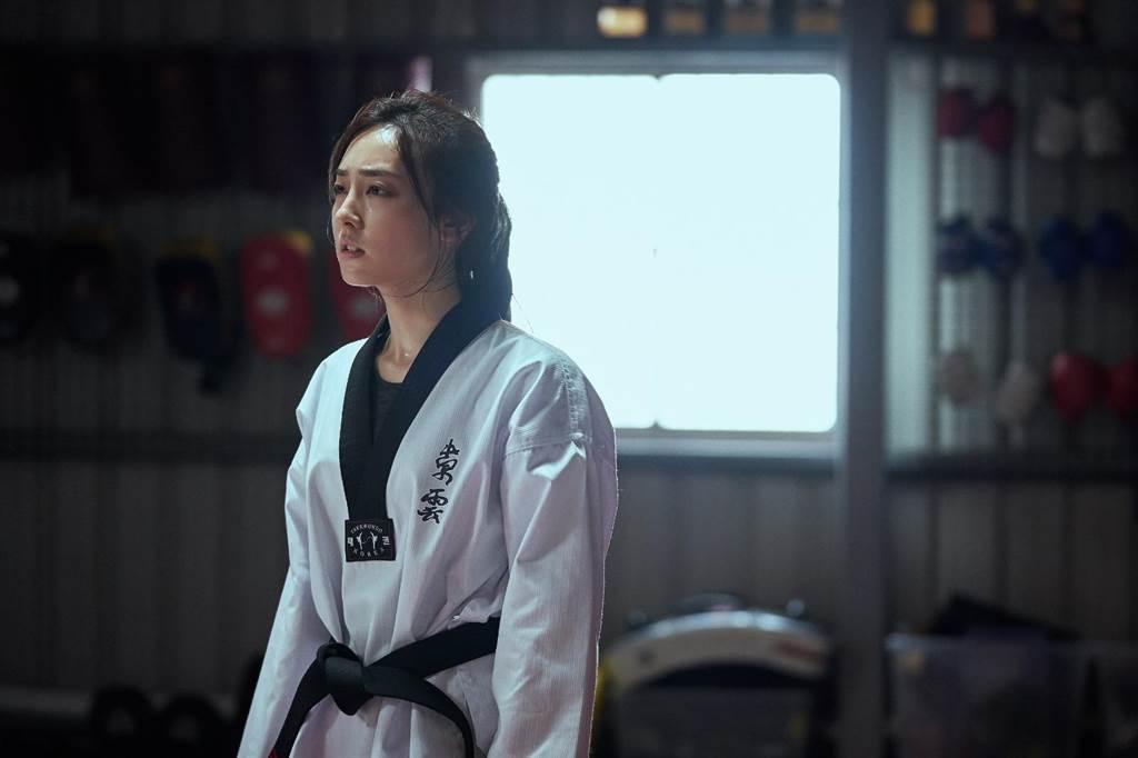席惟伦剧中展现跆拳道伸手。(八大电视提供)