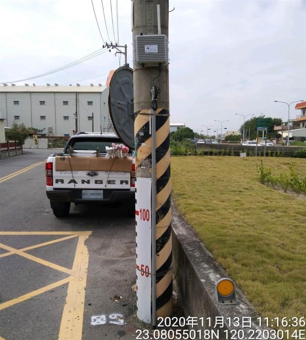 台南市水利局今年度將增設150支路面淹水感測器,建置後台南市淹水感測器共計262處,分布於範圍增至台南市33個行政區。(台南市水利局提供/劉秀芬台南傳真)