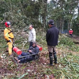 花蓮深山採草藥痛風發作 男子雨中苦等6天吊掛救援