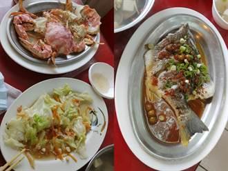 南寮漁港「2蟹1魚1菜」要2340元 她曝店家「黑店奧步」氣炸