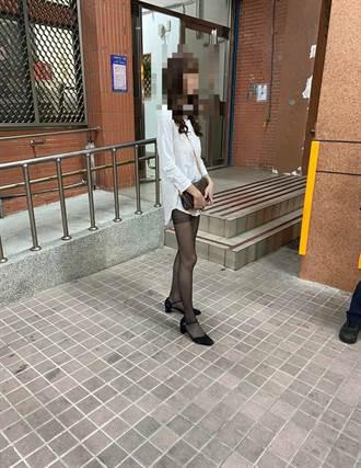 新北女「下半身失蹤裝」露美腿性交易候客 警一查發現竟是「他」
