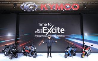 KYMCO紅黃白電四款新車 震撼亮相