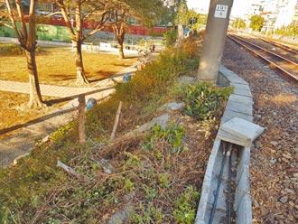 鐵軌放水泥蓋 怪男搞軌聽碎石聲
