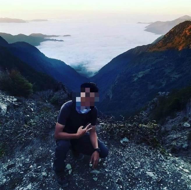 黃姓男子(24歲)自訂秀姑巒山兩天的登山行程,近日卻失聯,於4日上午發現其遺體。(民眾提供/黃立杰南投傳真)