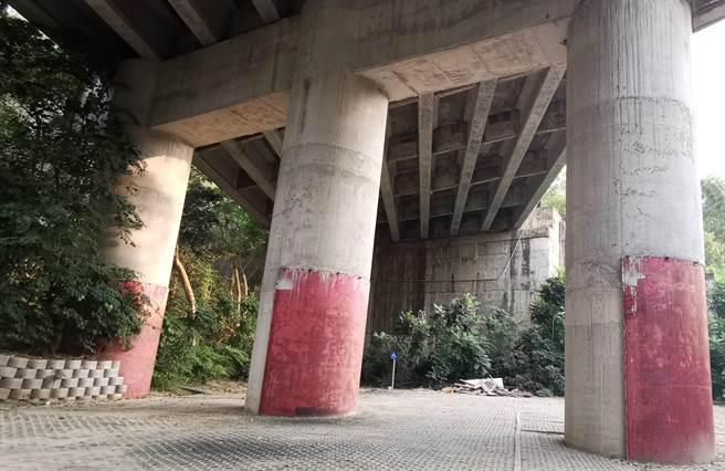 位於在84號快速道路頭社交流道旁的「西拉雅親子公園」遊客稀少,多處設施損壞,經常有民眾偷倒垃圾,淪為蚊子公園。(劉秀芬攝)