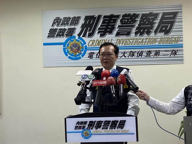 刑事局電信偵查大隊第2隊4日偵破製造販售偽劣醫療口罩案。(盧金足攝)