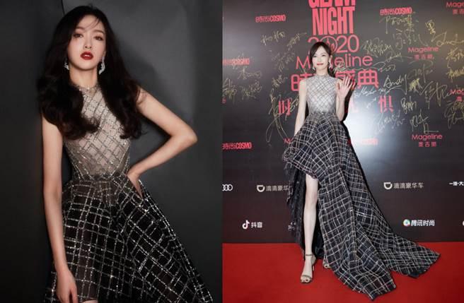 唐嫣穿上透視裙展現性感身材,新造型一曝光立刻驚艷眾人。(圖/摘自微博@唐嫣工作室 )