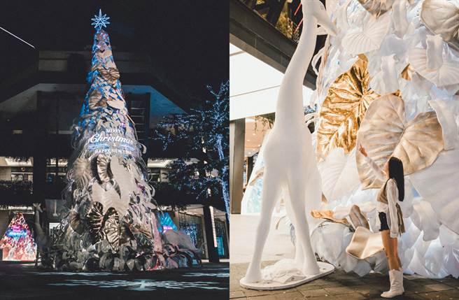 台北信義新天地推出超狂的17米高的「希望之樹」,搭配香堤大道超過30萬顆長達320公尺的銀河燈海超浪漫。(圖/品牌提供)