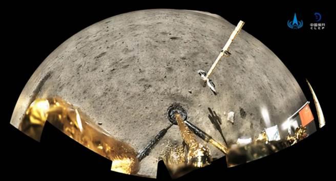 中國探月工程嫦娥5號月表探測器機械臂及採樣器。(圖/微信@中國探月工程)