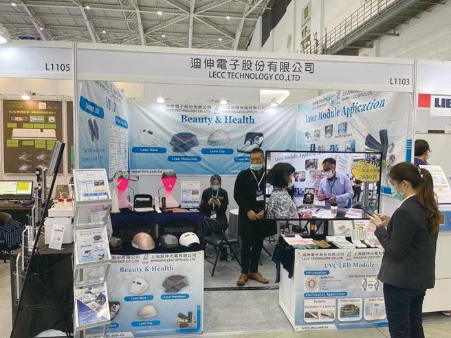 迪伸電子參加醫療科技大展。圖/利漢民