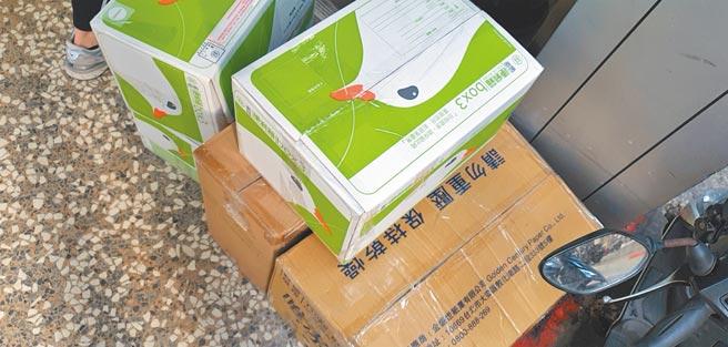 陸生Kira郵寄回大陸的五個箱子。(作者提供)