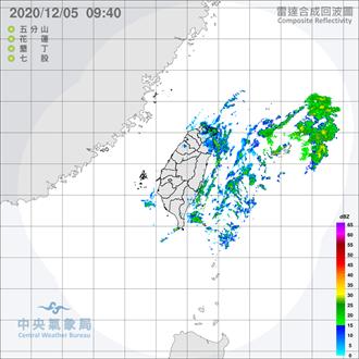 吳德榮:北海岸、大台北山區、東北部今雨勢明顯