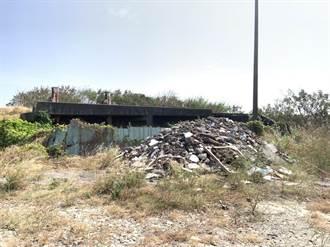 台中清水高北加壓站園區 也遭工程廢棄物入侵