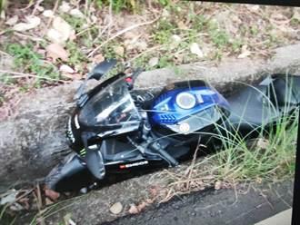 台中太平赤崁頂髮夾彎傳意外 重機衝山溝19歲騎士喪命
