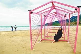 落山風裝置藝術 遊客搶拍
