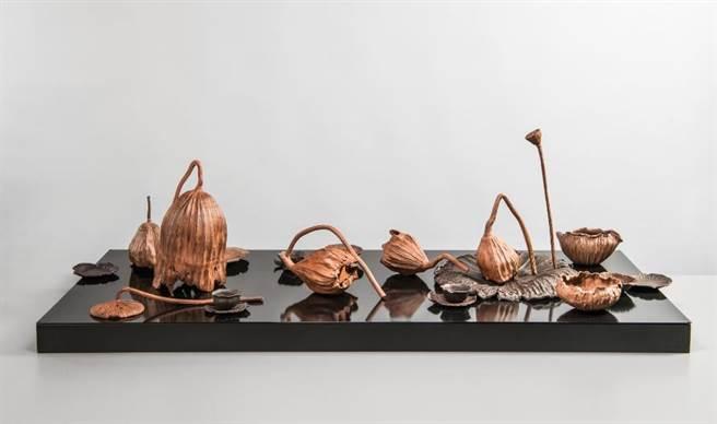 台灣工藝競賽一等獎由林智斌作品「禪荷。漱泉」奪得。(新光三越提供)