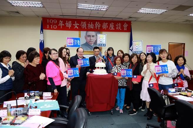 國民黨主席江啟臣日前出席「北北基宜婦女領袖幹部座談會」。(國民黨提供)