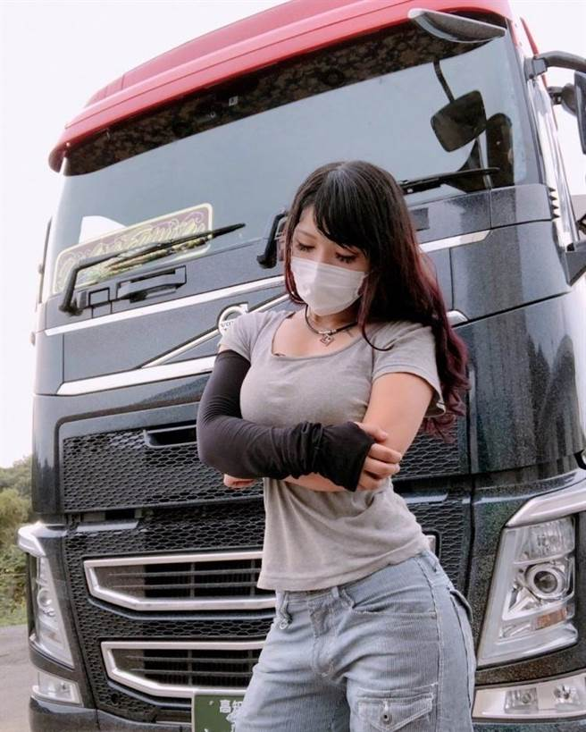 網友無法相信佐佐木梨乃是貨車司機。(圖/翻攝自當事人IG)