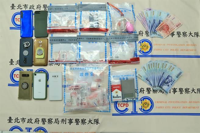 警方查獲安毒及K他命等毒品。(警方提供)