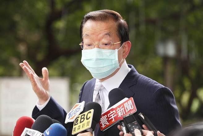 駐日代表謝長廷談核食議題。(張鎧乙攝)