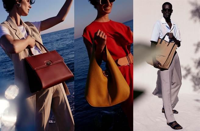 新尺寸的Studio包、新款Trifolio系列提包以及一款靈感發想來自於希區柯克電影《豔賊Marnie》中的關鍵場景。(圖/品牌提供)
