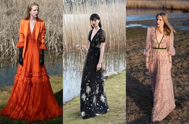 設計師擅長結合波西米亞風的自由爛漫,以簡約線條搭配精緻細節,打造富饒地中海情調的時尚洋裝。(圖/品牌提供)