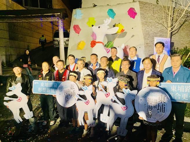 東埔溫泉區新地標「白鹿傳奇」及溫泉廣場,5日揭幕啟用。(廖志晃攝)