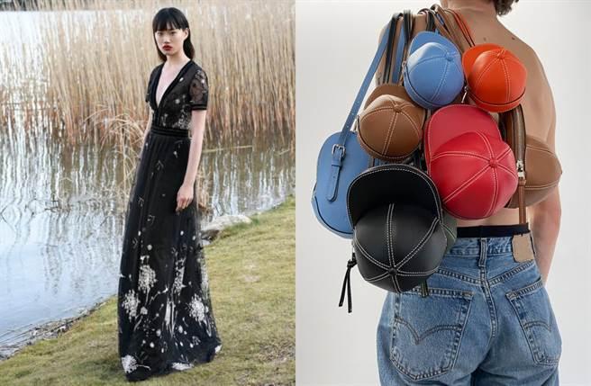 V型胸線、燈籠袖、分量感十足的垂墜裙襬都是年度不可錯過的穿搭焦點。(圖/品牌提供)