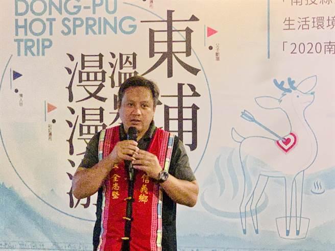 信義鄉長全志堅表示,東埔溫泉季之後,賞梅和櫻花季陸續登場。(廖志晃攝)
