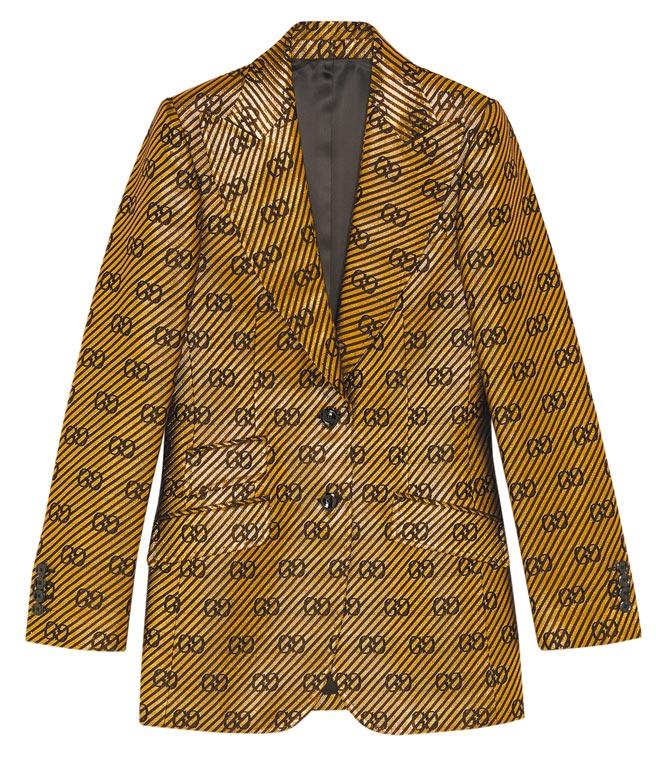 GG Logo單排釦外套,13萬元。(Gucci提供)