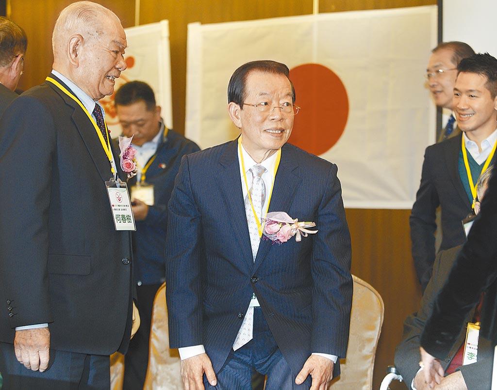 駐日代表謝長廷(中)5日出席「2020高座台日交流大會」。(張鎧乙攝)