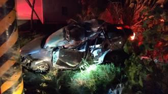 桃園高速過彎 酒駕男自撞電線桿奪命