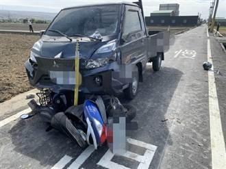 台中小貨車撞機車 夫妻雙載噴飛雙亡