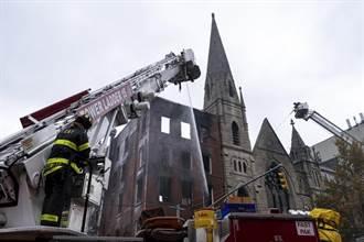 影》 紐約百年教堂慘遭祝融 歷史景點自由鐘岌岌可危