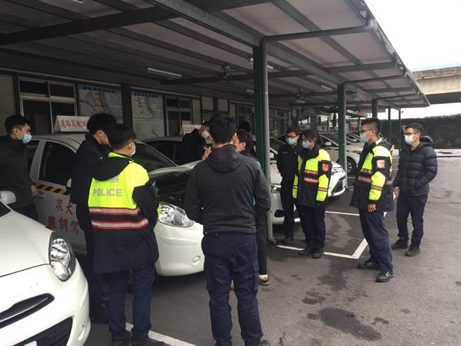 新北市中和警分局為守護同仁執勤安全,委託駕訓班協助規畫交通安全駕駛訓練課程。(中和警分局提供)