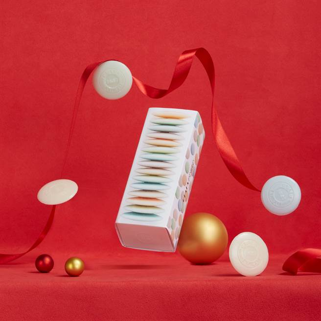 CONFETTI五彩繽紛馬卡龍香氛皂禮盒。(圖/品牌提供)