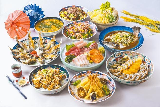 和風日式筵席示意圖,實際菜色將依現場提供為主。(新竹老爺酒店提供)