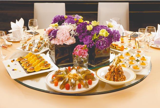 新竹喜來登桌席示意圖,尾牙春酒桌席餐點以實際菜單內容為主。(新竹豐邑喜來登大飯店提供)