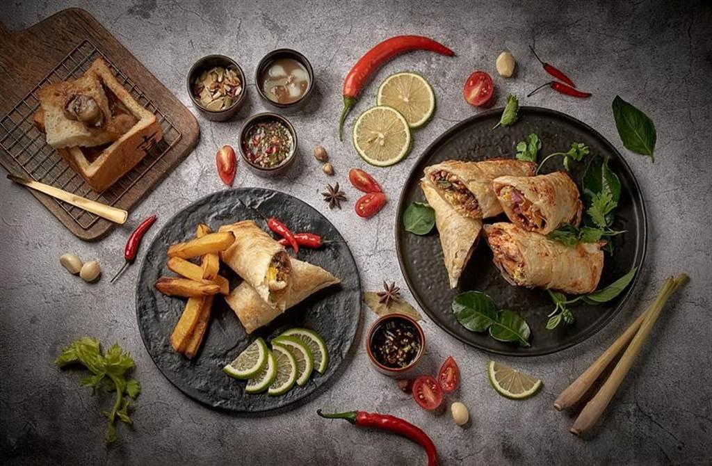 為創造差異化賣點,台北花園大酒店「花園thai thai」泰式餐酒館推出全新泰式風味早餐。圖/台北花園大酒店提供