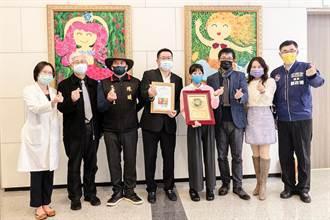 中醫大竹附設醫院藝廊開幕 8藝術家展出40畫作療癒病患