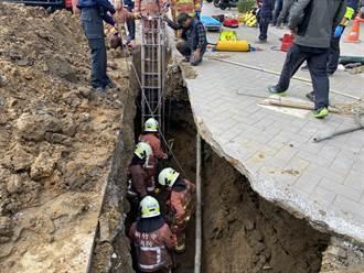 竹市汙水下水道工程坍方 1工人遭活埋搶救中