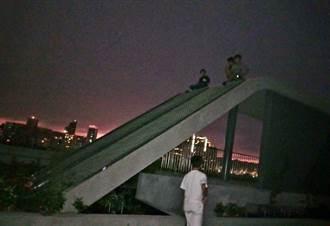 秘境成險境!綠美化卻成攀爬網 民眾爬7樓高停車場賞夜景
