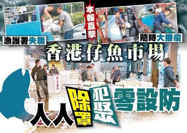 香港仔魚市場防疫處處漏洞,恐成新一波播疫源頭。(取自東網)
