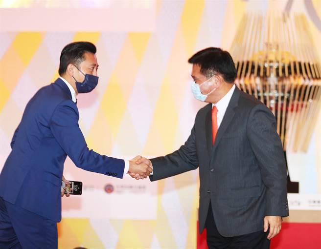 新竹市長林智堅與交通部長林佳龍。(陳怡誠攝)