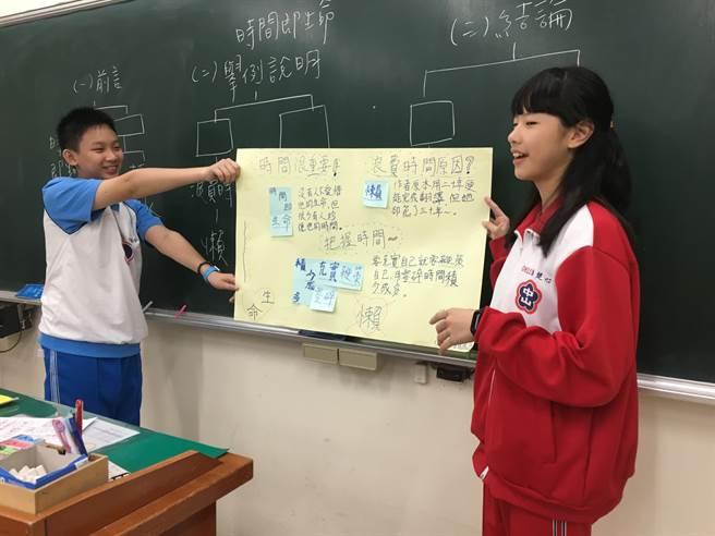 中山國中透過自主學習課程,提升學生國文能力。(教育局提供/李俊淇新北傳真)