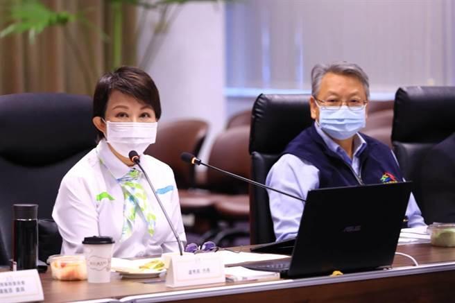 台中市長盧秀燕主持國際事務委員會,針對國際交流合作議題討論,期望在全球新冠肺炎疫情的嚴峻考驗下,更多元方式推動國際交流。(台中市府提供/盧金足台中傳真)