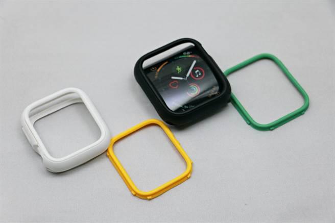 犀牛盾推出的Apple Watch CrashGuard NX模組化手機殼,採用模組化設計。(黃慧雯攝)