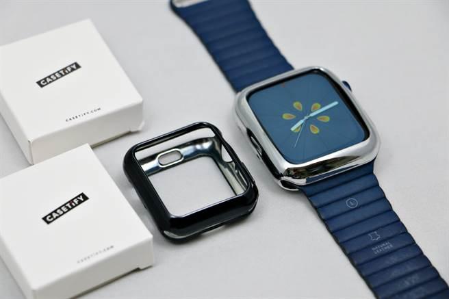 配件品牌Casetify有針對Apple Watch推出專屬保護殼。(黃慧雯攝)